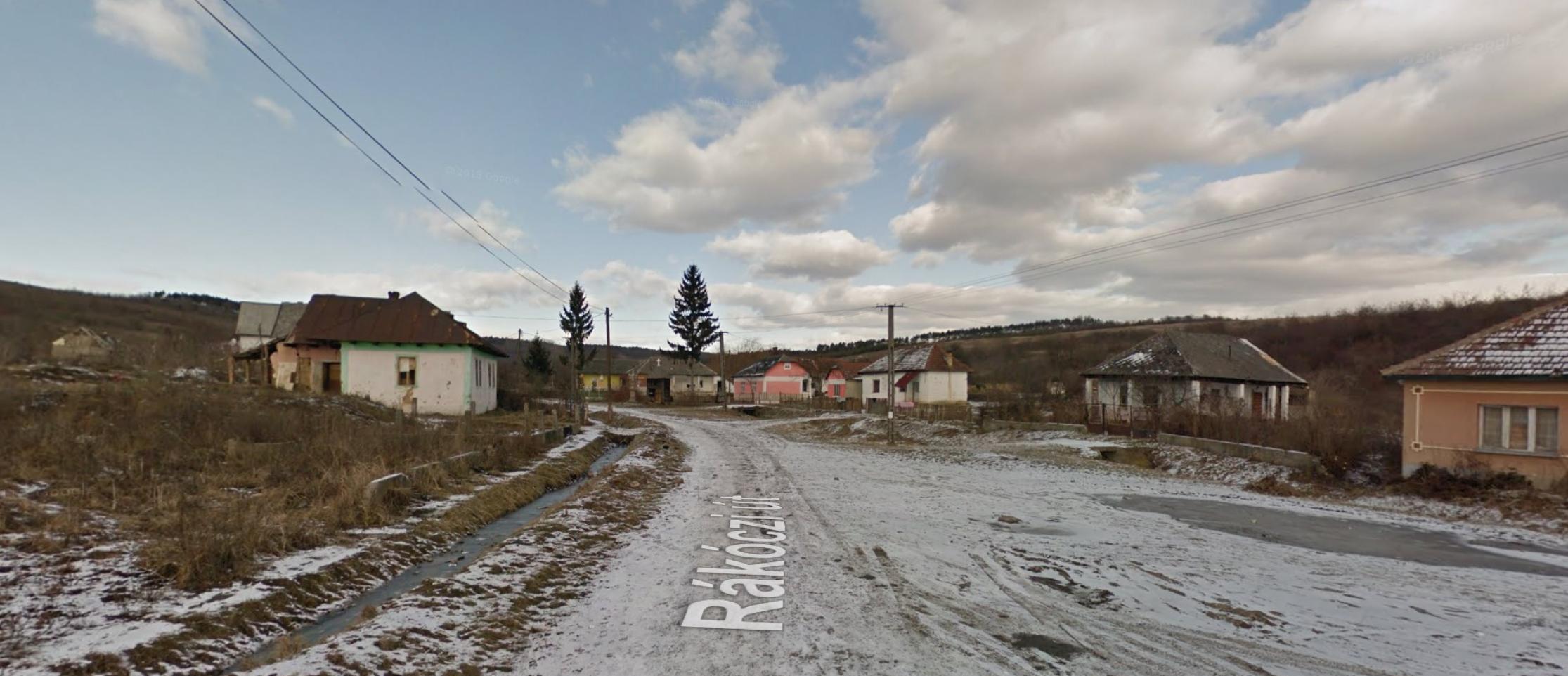 Csetenye utcakép Google Street View fotón